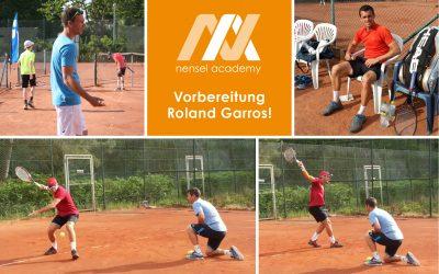 Vorbereitung Roland Garros!